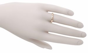 Half Round Vintage 14K Rose Gold Wedding Ring - Click to enlarge