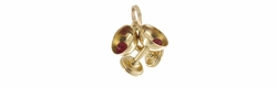 Clinking Wine Goblets Charm in 14 Karat Gold