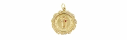 """A Date to Remember"" Vintage Wedding Anniversary Pendant in 14 Karat Yellow Gold"