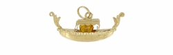 Gem Set Gondola Pendant Charm in 18 Karat Gold