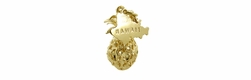 Filigree Pineapple Hawaii Charm in 14 Karat Gold