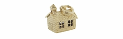 Schoolhouse Charm in 14 Karat Gold