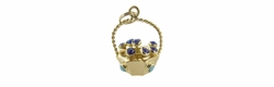 Basket of Flowers Charm in 18 Karat Gold