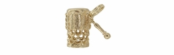 Movable Conga Drum Charm in 14 Karat Gold