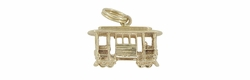 Trolley Car Charm in 14 Karat Gold