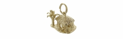 Tropical Hut Charm in 14 Karat Gold