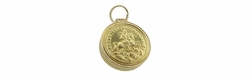 Gladiator Locket Pendant Charm in 14 Karat Gold