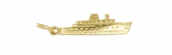 "Vintage ""SS Monterey"" Luxury Cruise Ship Charm in 14K Gold"