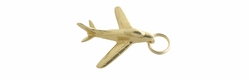 Jet Airplane Charm in 14 Karat Gold