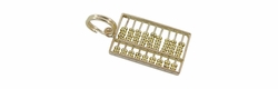 Vintage Movable Abacus Pendant in 14 Karat Gold