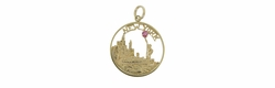 New York Pendant Set with Ruby in 14 Karat Gold