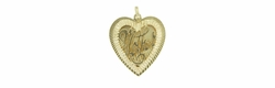 "Vintage ""Mother"" Filigree Heart Charm in 14 Karat Gold"
