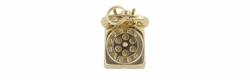 "Movable ""I Love You"" Dial Telephone Charm in 14 Karat Gold"