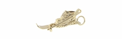 Old Fashioned Vintage Ski Boot Charm in 14 Karat Yellow Gold