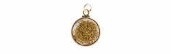 Natural Gold Nuggets Vintage Pendant with 14 Karat Gold Frame