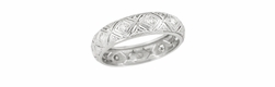 Art Deco Diamond Set Antique Wedding Band in Platinum - Size 6