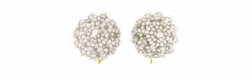 Victorian Seed Pearl Cluster Antique Earrings