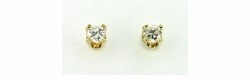 Diamond Stud Earrings in 14 Karat Gold