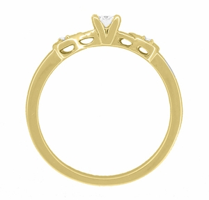 Retro Moderne 1/4 Carat Diamond Engagement Ring in 14 Karat Yellow Gold - Item R380Y25 - Image 2