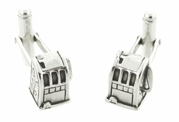 Small Old Time Slot Machine Cufflinks in Sterling Silver