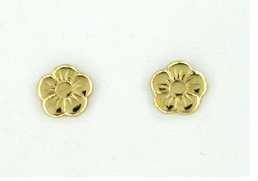 Petite Flower Stud Earrings in 14 Karat Gold