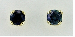 Sapphire Stud Earrings in 14 Karat Gold
