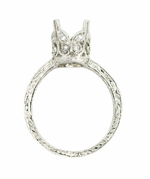 Art Deco 1 Carat Platinum and Diamond Filigree Engagement Ring