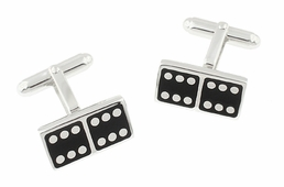 Domino Cufflinks in Sterling Silver
