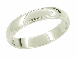 Women's 3.6mm Wedding Band in Platinum