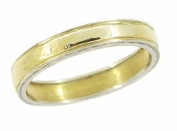 Tiffany & Co. Vintage Wedding Band in Platinum and 18 Karat Yellow Gold