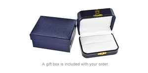 Gold Golf Bag Cufflinks in 14 Karat Gold | Solid Gold GolferCufflinks - Item GCL152 - Image 2