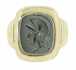 Man's Hematite Intaglio Ring in 10 Karat Gold