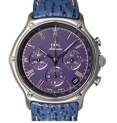 Ebel 1911 Automatic Chronograph with Leather Strap
