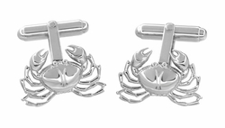 Crab Cufflinks in Sterling Silver