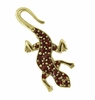 Victorian Lizard Brooch Set with Bohemian Garnets in Sterling Silver Vermeil
