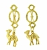 Vintage Dangling Camel Earrings in 18 Karat Yellow Gold, One of a Kind Unique Earrings