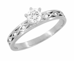 Happy Diamonds Engagement Ring in 14 Karat White Gold