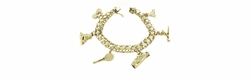 Sports Theme Charm Bracelet in 14 Karat Gold