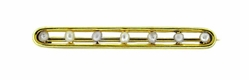Antique Seven Seed Pearl Bar Brooch in 14 Karat Gold
