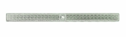Art Deco Diamond Set Engraved Bar Brooch in 14 Karat White Gold