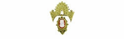 Antique Victorian Hardstone Cameo Brooch in 14 Karat Yellow Gold