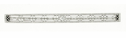 Edwardian Diamond Set Filigree Bar Brooch in 14 Karat White Gold