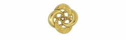 Antique Victorian Algerian Love Knot Brooch Set With Diamond in 10 Karat Gold