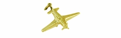Fighter Airplane Charm in 14 Karat Gold