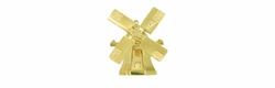 Dutch Windmill Movable Charm in 14 Karat Gold