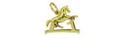 Rocking Horse Moveable Charm in 14 Karat Gold