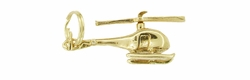Helicopter Charm With Movable Propeller in 14 Karat Gold