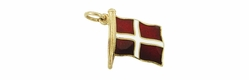 Enameled Denmark Flag Charm in 14 Karat Gold
