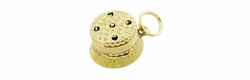 Moveable Birthday Cake Charm in 14 Karat Gold