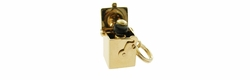 Movable Jack in the Box Charm in 14 Karat Gold